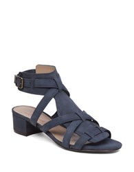 Delman Moxie Leather Sandals Blazer Blue