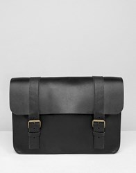 Asos Made In England Leather Satchel Black