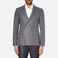 Carven Men's Double Breasted Blazer Gris Chine