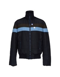 Blu Byblos Jackets Dark Blue