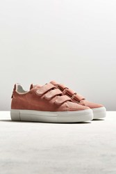 Amb Ny Three Strap Suede Sneaker Pink