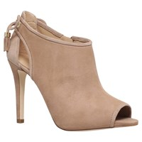 Michael Michael Kors Jennings Bootie Stiletto Heeled Ankle Boots Taupe