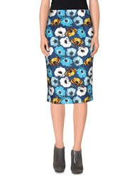 Andrea Incontri Skirts Knee Length Skirts Women Blue