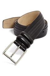Mezlan 'Parma' Perforated Belt Black