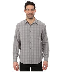 Royal Robbins San Juan Plaid Long Sleeve Shirt Pewter Men's Long Sleeve Button Up
