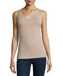 Minnie Rose Essential Layering Scoop Neck Tank French Tau