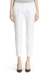 Women's Eleventy 'New York' Stretch Cotton Slim Ankle Pants