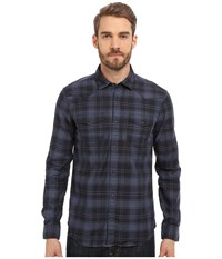 Mavi Jeans Plaid Button Down Dress Blue Checked Men's Long Sleeve Button Up