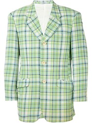 Kenzo Vintage Checked Jacket Green
