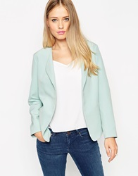 Asos Blazer With Waterfall Front Mint