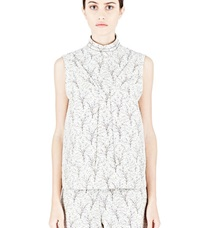 Marni Patterned Structured Tank Top Neutrals