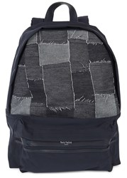 Casely Hayford Indigo Quilted Nylon Backpack
