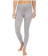 Yummie Tummie Jersey Burnout Skimmer Plein Air Light Gray Women's Casual Pants