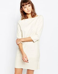 Minimum Boat Neck Shift Dress White
