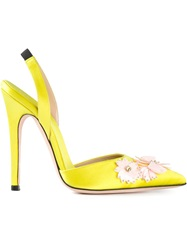 Giambattista Valli Embellished Sling Back Pumps