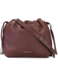 Burberry House Check Crossbody Bag Pink Purple