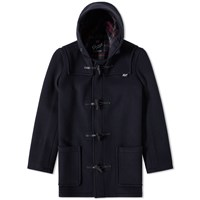 Gloverall Mid Length Duffle Coat Blue