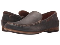 Frye Henry Venetian Charcoal Waxed Vintage Leather Men's Slip On Shoes Brown