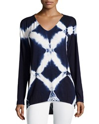 Nanette Nanette Lepore Summit Tie Dye Long Sleeve Tee Diamond Wash
