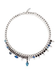 Joomi Lim 'Organized Chaos' Spike Crystal Chain Necklace Metallic