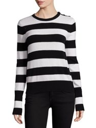 Rag And Bone Careen Striped Sweater White Black