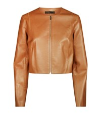 The Row Tezra Leather Jacket Female Brown