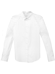 Carven Laser Cut Shoulder Shirt