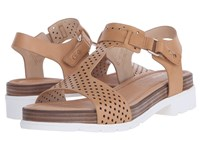 Dr. Scholl's Hinda Original Collection Sienna Tan Perf White Bottom Women's Sandals Brown