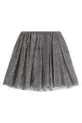 Red Valentino Tulle Mini Skirt With Glitter Grey