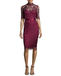 Catherine Deane Camilla High Neck Lace Sheath Dress