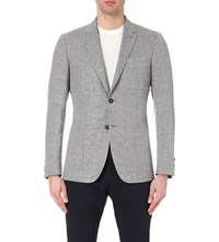 Reiss Tate Modern Fit Woven Blazer Charcoal