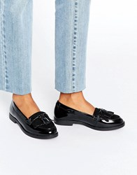 Head Over Heels By Dune Gwenie Black Fringed Loafer Shoes Black