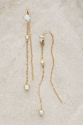 Anthropologie Threaded Calmetto Earrings Mint