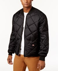 Dickies Men's Quilted Bomber Coat Black