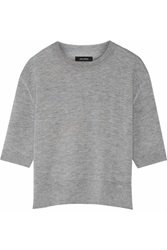 Isabel Marant Oslo Cashmere Blend Sweater Gray