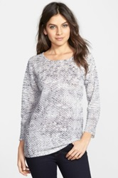 Nic Zoe 'With A View' Scoop Neck Top Regular And Petite Gray