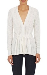 Skin Women's Slub Knit Cotton Cardigan White
