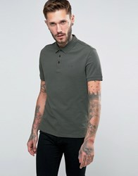 Armani Jeans Polo Shirt With Logo Regular Fit In Olive Olive Green