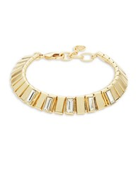 Rj Graziano Textured Stone Accented Bracelet Gold