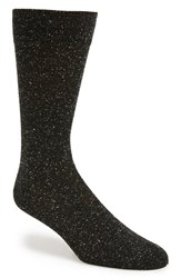 Men's Lorenzo Uomo 'Danubio' Donegal Tweed Socks Black Corvo Black