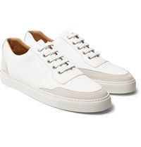 Harry's Of London Mr. Jones 2 Leather And Suede Sneakers White