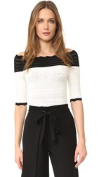 Yigal Azrouel Off Shoulder Top Optic Multi