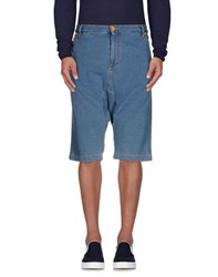 Love Moschino Denim Denim Bermudas Men Blue