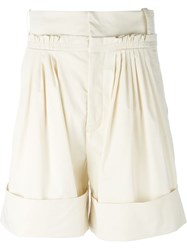 J.W.Anderson J.W. Anderson Pleated Knee Shorts Nude And Neutrals