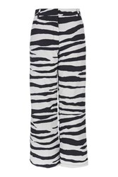 Topshop Zebra Boarder Trouser By Sno Monochrome