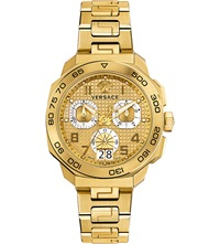 Versace Vqc040015 Dylos Yellow Gold Toned Watch