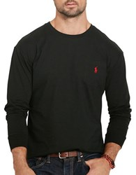 Polo Big And Tall Cotton Jersey Long Sleeve Tee Black