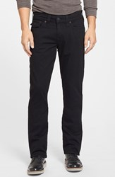 Men's True Religion Brand Jeans 'Ricky' Relaxed Straight Fit Jeans Midnight Black
