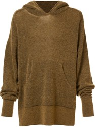 Haider Ackermann Plain Hoodie Brown