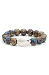 Simon Sebbag Women's Beaded Necklace Labradorite